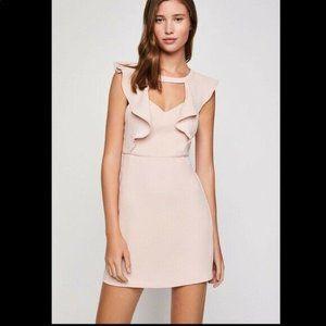 BCBGeneration Ruffled Cutout Sheath Mini Dress